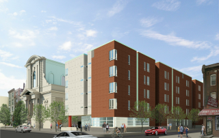 Rendering of Saint Rita Place (Cecil Baker + Partners Architects).